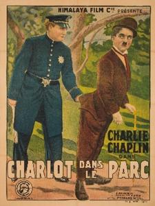 Charlot dans le parc affiche du film